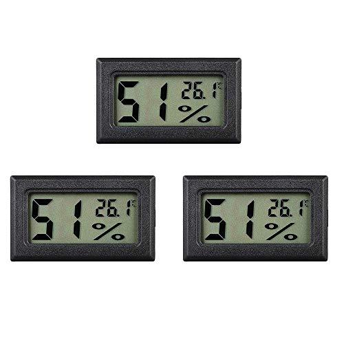 eSky24 Mini- Batteriebetriebenes Digitalthermometer mit LCD-Display für Aquarium, Terrarium, Kühl- und Gefrierschrank usw, 2m Anschlussleitung