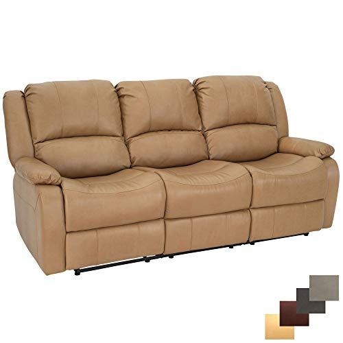 RecPro Charles Collection   80' Triple Recliner RV Sofa & Drop Down Console   RV Zero Wall   Wall Hugger Recliner   RV Theater Seating   RV Furniture   RV Living Room (Slideout) Furniture   Toffee