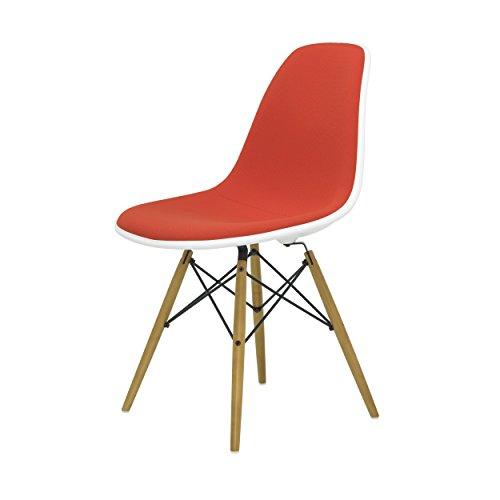 Vitra Eames Plastic Side Chair DSW - Cojín con deslizadores de fieltro, color naranja