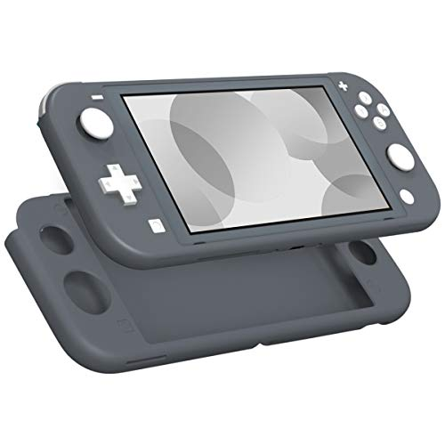 MoKo Case for Nintendo Switch Lite, Silicone Protective Rubber Cover, Shock-Absorption Anti-Scratch Non-Slip Case for Nintendo Switch Lite Console - Gray
