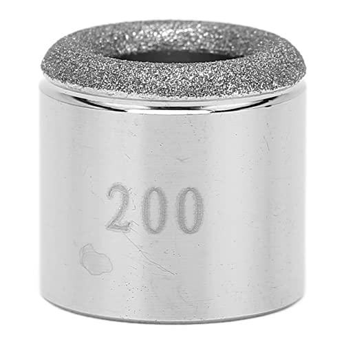 200# Puntas De Microdermoabrasión, Microdermoabrasión De Diamante De Acero Inoxidable, Accesorio De Cabeza De Dermoabrasión De Repuesto, Seguro Sin Partículas Volando