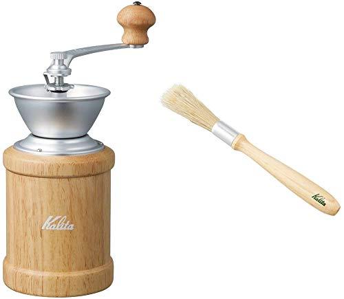 【セット買い】 カリタ コーヒーミル 手挽き KH-3N ナチュラル+クリーニングブラシセット