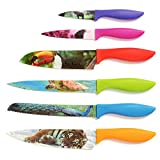 Wildlife Kitchen Knife Set in Gift Box - Colored Chef Knives - Cool, Unique...
