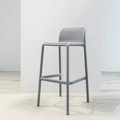 KHFFH barkruk, Lounge bar stoel, Nordic eenvoudig buiten kunststof barkruk Ins Stijl barkruk (44x51,5x97,5 cm) barkruk