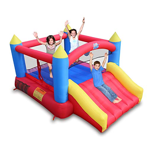 ACTION AIR [Updated Version Bounce House, Inflatable Bouncer Without Air Blower, 450W/0.6HP Blower Needed to Operate, Durable Sewn with Extra Thick Material, Idea for Kids (C-9745-IP) Without Blower