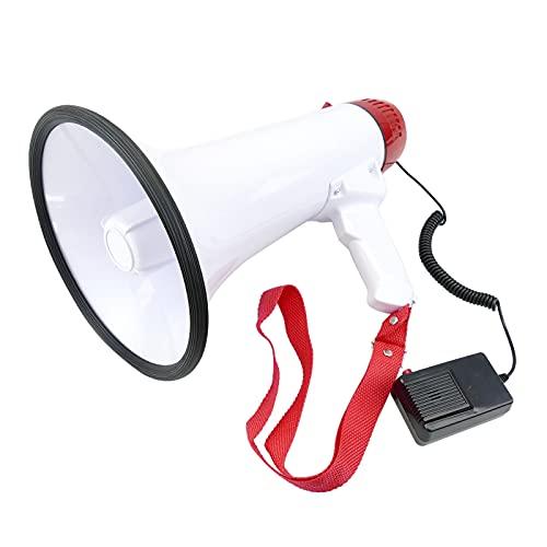 BeMatik - Megáfono de 20W con grabación 10s y sirena Altavoz portátil de 200x320 mm