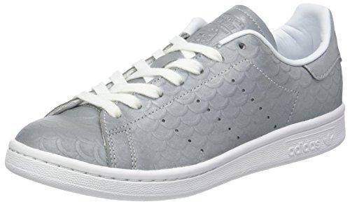 adidas Stan Smith W, Zapatillas para Mujer, Gris (Silvmt/silvmt/ftwwht), 38 2/3 EU