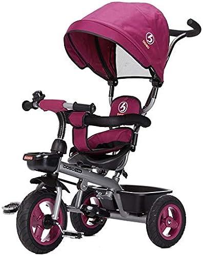 XP Kinderwagen-Baby-Laufkatze-vorderes Rad-Kupplung Nicht aufblasbares Titan-leeres Rad-Fahrrad 2-6 Jahre alte schützende justierbare Markise-Laufkatze