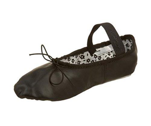 Capezio Girl's Rosa Ballet Flats, Black, 1.5 M Little Kid