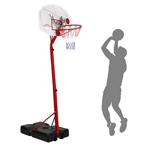 Kid Adolescente Cubierta del Soporte del Baloncesto Al Aire Libre, con Altura Ajustable del Aro De Baloncesto, Bola Maxium Modelo Aplicable, El Soporte Móvil Baloncesto