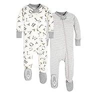 Eohak Footless-Pajamas Baby//Newborn Cotton-Jumpsuit Sleeper Long Sleeve Romper 2 Packed