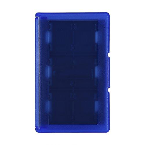 Caja de tarjetas TF 24 en 1 con soporte para tarjetas de memoria para Nintendo Switch (azul)