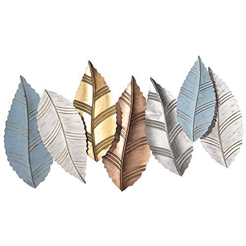 SHY Metall Wandkunst Baum Blätter 43,7 × 24inches Große handgefertigte Wanddekoration Indoor und Outdoor Modernes Design Bild skulptur Wandbild