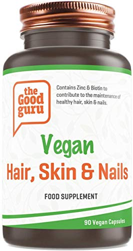 The Good Guru - Vegan Hair, Skin & Nails Multivitamins and Minerals with Thistle Extract Food Supplement - 90 Capsules