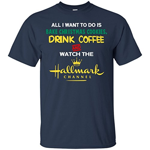 CoffeeTee Bake Christmas Cookies Drink Coffee and Watch Movie - Men's Premium T-S Best Gifts T-Shirt