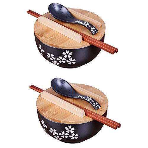 2PCS Vajilla de cocina japonesa Tazón de fuente de estilo vintage coreano Cuenco de arroz Tazón de fuente de cerámica instantánea de estilo japonés Suministros de cocina (2PCS-16cm(6.25 inches))