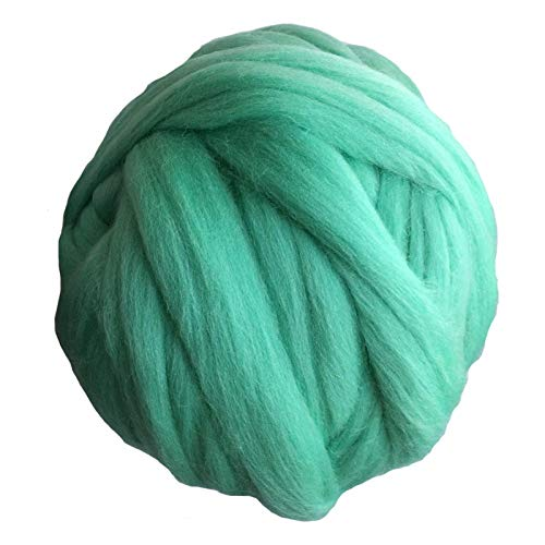 SXCXYG Hilo Gigante 1000 g 6 cm de Espesor Hilado Super Chunky Hilado Soft Spinning Spinning for el Brazo Knit Knit Winket Gigante De TejeduríA Manual (Color : Grass Green)