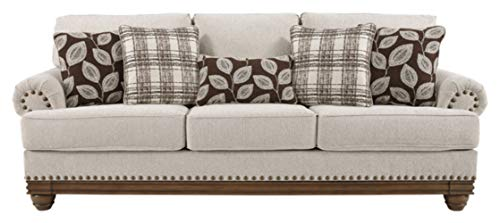 Signature Design by Ashley - Harleson Traditional Upholstered Sofa, Wheat