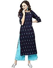 LIBAS Women Kurti with Palazzo Set | Ladies Top Kurta Kameez Salwar Suit Bottom Pant | Ethnic Indian Pakistani Party Dress | Casual Formal Traditional Wear