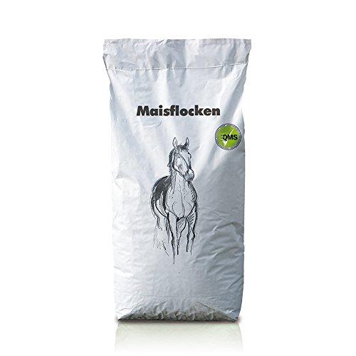 Eggersmann Maisflocken – Einzelfuttermittel für Pferde und Ponys – Viel Energie, wenig Eiweiß – 15 kg Sack