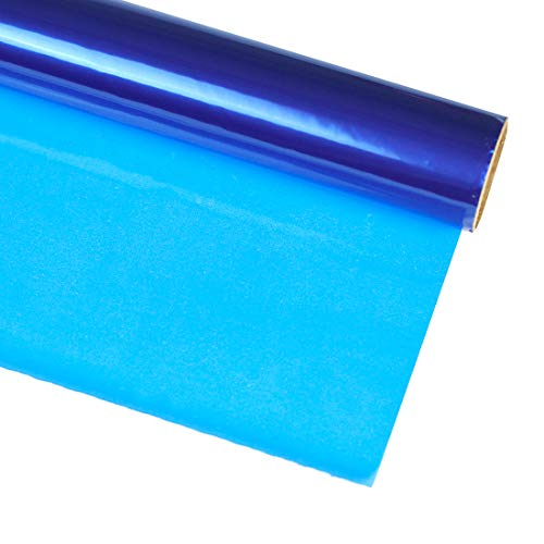 Hygloss Products, Inc Roll Cellophane Wrap for Crafts, Gifts, and Baskets 40 Inch x 100 Feet, 40-inches x 100-feet, Blue