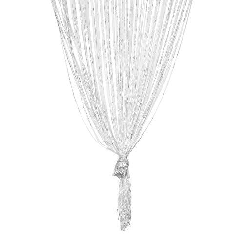 TRIXES Zilver draadgordijn – Deurgordijn of venstergordijn – Totale afmeting 90x200 cm – Perfect als vliegengordijn