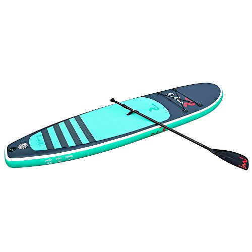 Rokia R 10.6 Feet Inflatable SUP Stand Up Paddle Board (6 Inches Thick) iSUP for Fitness, Yoga, Fishing on Flat Water, Blue