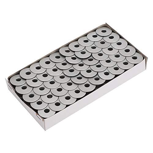 Atyhao Bobinas de máquina de Coser 100 Piezas, Juego de bobinas de Hilo de Aluminio Máquinas de Coser para automóviles Planas universales Accesorios de reemplazo de bobinas(Plano)