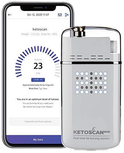 V2 KETOSCAN Mini Breath Ketone Meter | Monitor Your Fat Metabolism, Level of Ketosis on Low carb, Ketogenic or Any Nutrition & Fitness Program