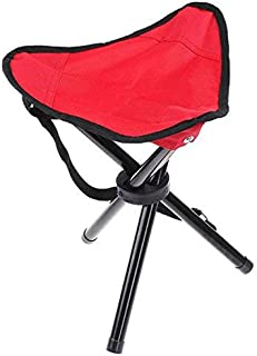 Portable Tripod Stool Folding Lightweight Chair Heavy Duty Foot Rest Seat for Outdoor Camping Walking Hunting Hiking Fishing Travel