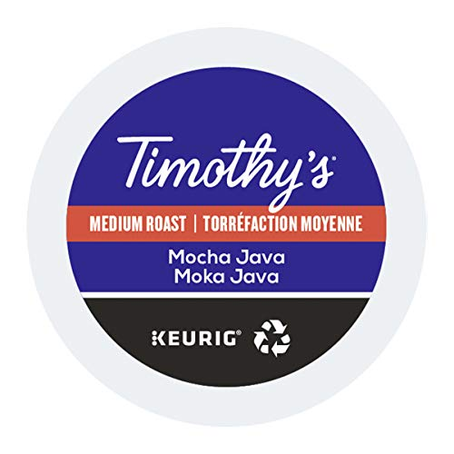 Timothy's World Coffee, Mocha Java, K-Cup Portion Pack for Keurig K-Cup Brewers, 24-Count (Pack of 2)