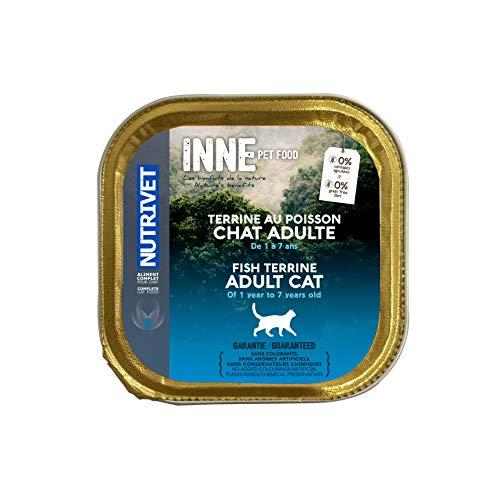 Nutrivet Inne Terrine Poisson BQ pour Chat 150 gr, Lot de 4
