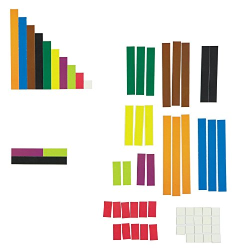 Learning Resources LER7708 Riesiges magnetisches Demonstrationsset Cuisenaire-Stäbchen