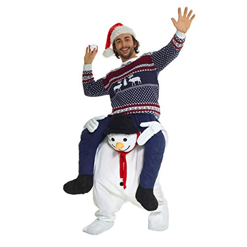 Morph Disfraz Monigote De Nieve a Caballito para adultos