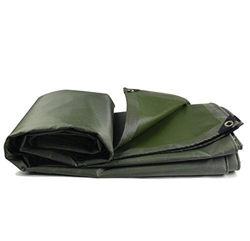 Tarpaulin Tela Spessa Resistente all'Usura 600 g/mq Telo ombreggiante/Telo Impermeabile Telo Solare telone Impermeabile telone Rivestito in PVC/Telo coprisedile (Colore : Green, Dimensioni : 3 * 3m)