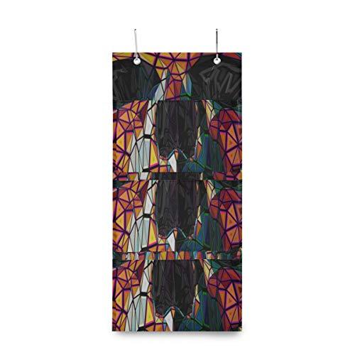 Hang Door Organizer Brigh Ethnische Gotik Zuckerschädel Hängende Kleidersäcke Für Aufbewahrung Aufbewahrungstasche Hängetasche Mit 4 Taschen Für Speisekammer Baby Kinderzimmer Badezimmer Wohnheim