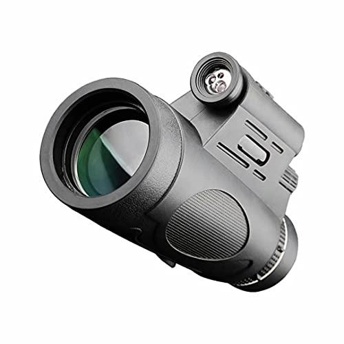 CFMZ Monoculares deLargo Alcance Movil, Telescopio Monocular 12x50 Zoom, Iluminables Portatil Monoculo Binoculares con Trípode y Soporte para Camping Concierto Yadlan