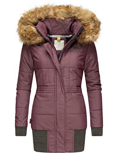 Alife and Kickin winterjas voor dames, winterparka, met afneembare kunstbont, Alva, 3 kleuren, XS-XL