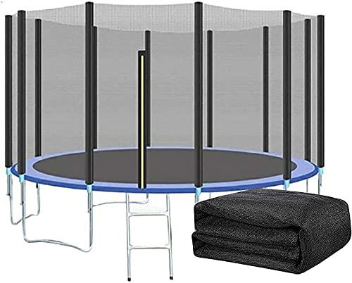 VULLDWS Trampolín de Seguridad Trampoline Resistente a los UV Protección contra trampolín, Trampoline Net 305 366 396 427 430 6 8 Polos, repuestos de trampolín, Altura de Red 163/180 cm