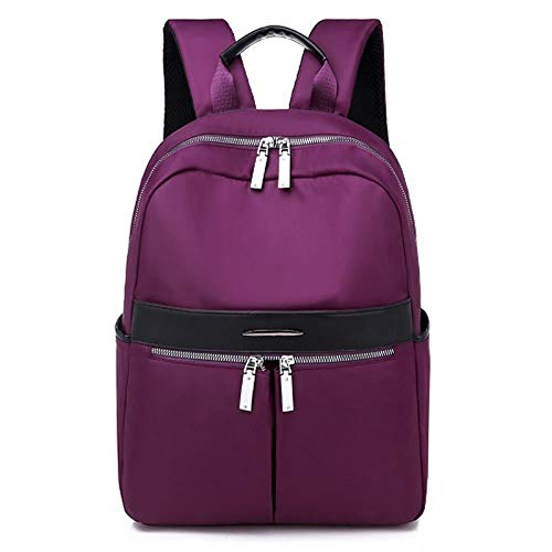 Cllym Simple Design Oxford Korean Leisure Style Women Backpack Fashionable Girls Leisure Bag School Student Bag Teenager Girls,purple,L28cmH38cmW10cm