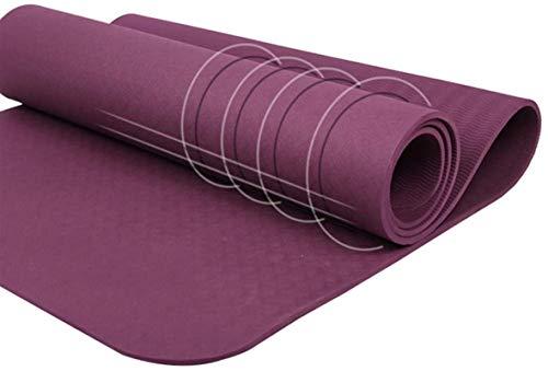 EIIDJFF Esterillas Yoga Antideslizante Entrenamiento De Gimnasio For El Hogar Suave Y Cómodo (Color : Dark Purple)