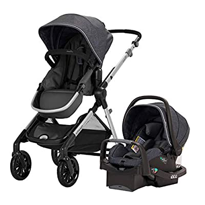 Pivot Xpand Modular Travel System with SafeMax Infant Car Seat, Roan