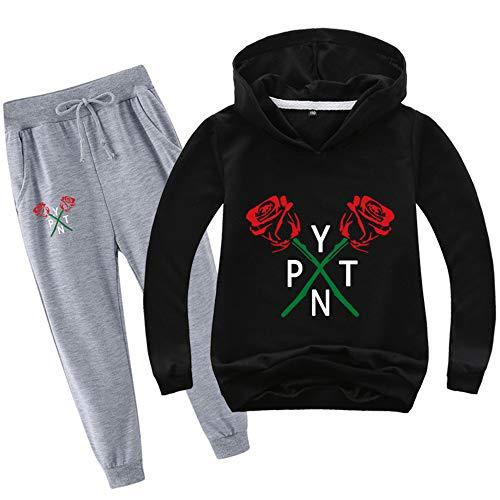 O&K Nouveau Garçons Filles Enfants Hot Imprimer Payton Sweat Sweat Tee Shirt Pantalons Simple Set Vêtements 100cm-170cm,Style 4,140cm