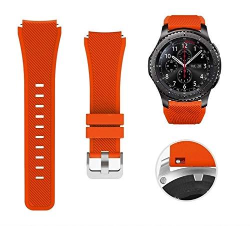 ZNQPLF 22mm Silikonband für Samsung Galaxy Watch 46mm Sportgurt für Samsung Getriebe S3 Frontier/Klassische Uhr (Color : Red, Size : for Galaxy 46mm)