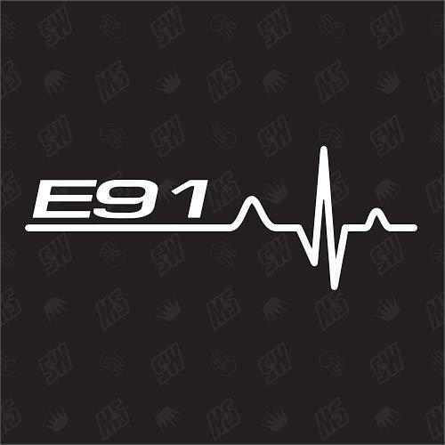 speedwerk-motorwear E91 Herzschlag - Sticker für BMW, Tuning Fan Aufkleber