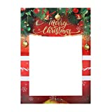 Christmas Party Paper Picture Frame Festive Delicate Selfie Photo Booth Prop Frame Accessory Party Supplies