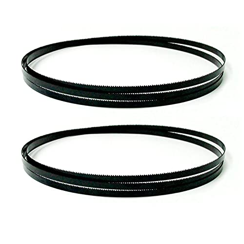 Wnuanjun 2 stücke Carbon-Bandsäge-Klingen 2240mm Bandsägeblätter 6,35 10 13 Breite 6 14TPI Holzbearbeitung für Metabo Bas 315/316/317/318 (Farbe : 2240x10x0.35mm 6T, Größe : Multipurpose)