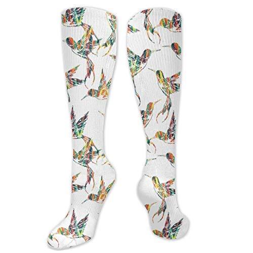 Drempad Tropical Bird Pattern Calcetines de Vestir Divertidos Unisex Crew Socks Calcetines Largos 50CM