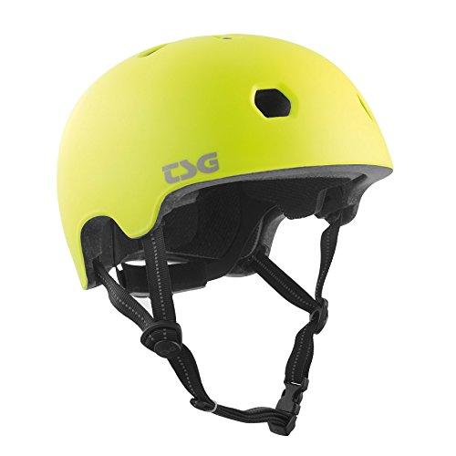 TSG Meta Color Sólido Casco De Bicicleta, Unisex Adulto, Raso Amarillo Ácido,...