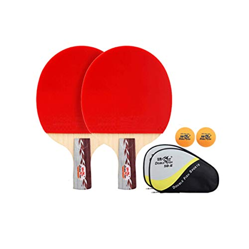 Lowest Prices! HUIJUNWENTI Table Tennis Racket Horizontal Shot/Straight Shot Double-Sided Anti-Adhes...